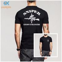 New French Foreign Legion 2e Legion Etrangere Special Forces Sniper Logo T Shirt Homme Camisetas Men