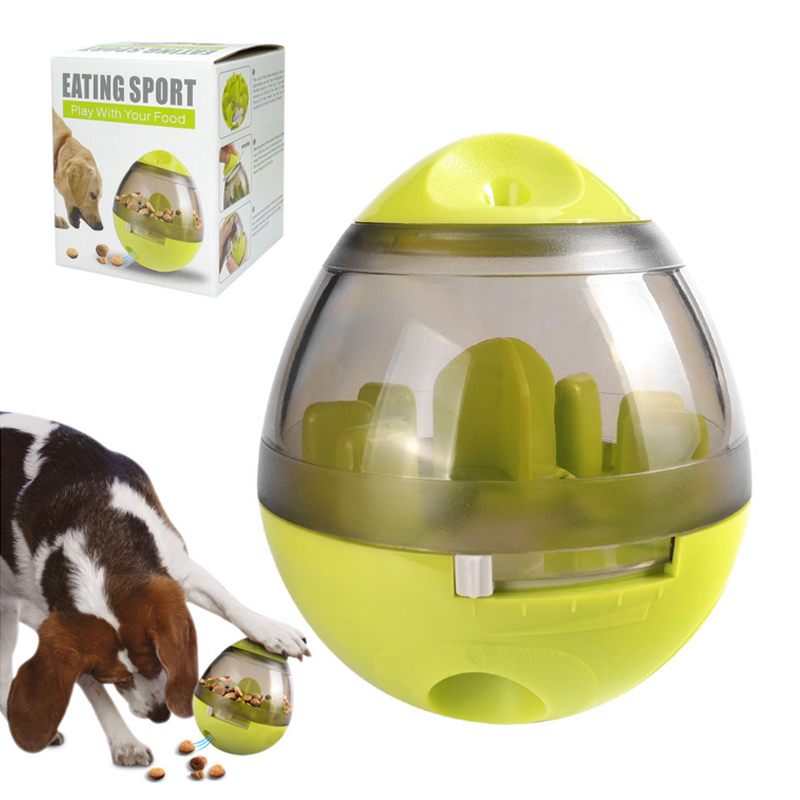 Dog Cat IQ Food Ball Interactive Pet Toy Smarter Food Balls Treat Dispenser Playing Training Tumbler Leakage Puppy Exercise Bowl