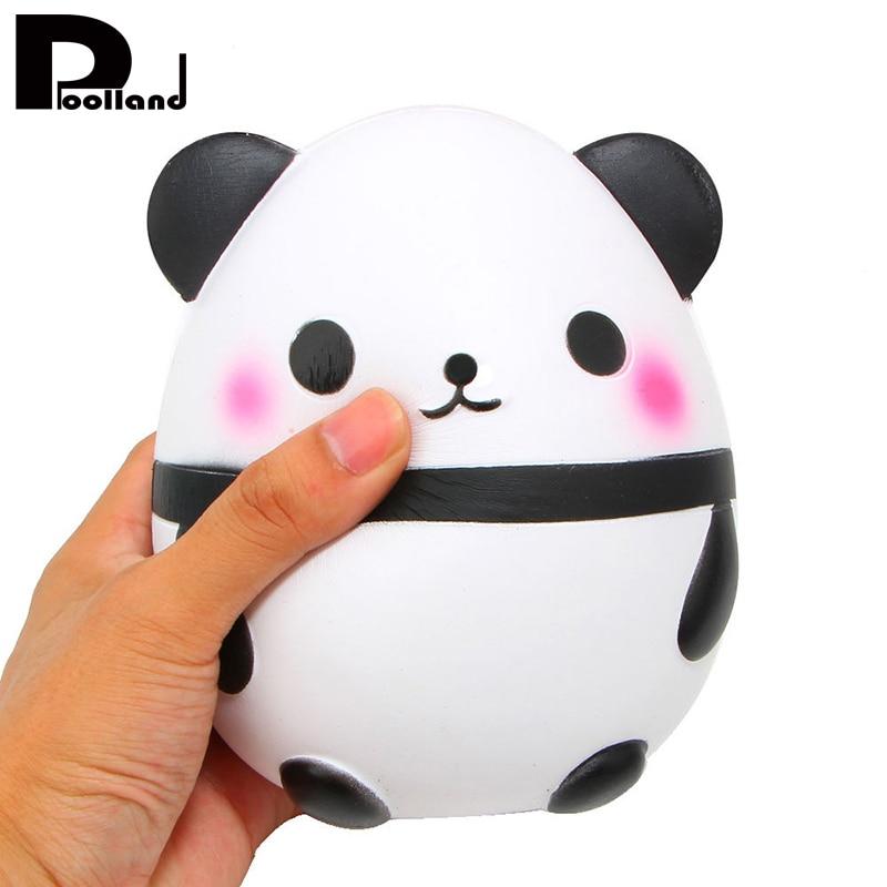 14 см Kawaii Джамбо панда мягкими дети Gag шутка Игрушечные лошадки Симпатичные мягкие куклы Коллекционные вещи мультфильм медленный рост мягки…