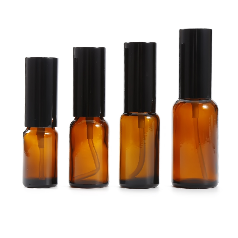 1pcs 15ml/20ml/30ml/50ml Travel Glass Refillable Oil Empty Container Perfume Sprayer Amber Bottle Pot  Face Lotion Atomizer