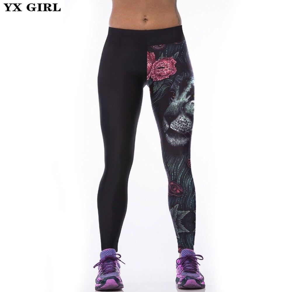 Yx Girl New Sexy Women's Sporting Leggings Fitness Workout Trousers 3d Print Pants Legging Elastic Slim Jeggings Legging