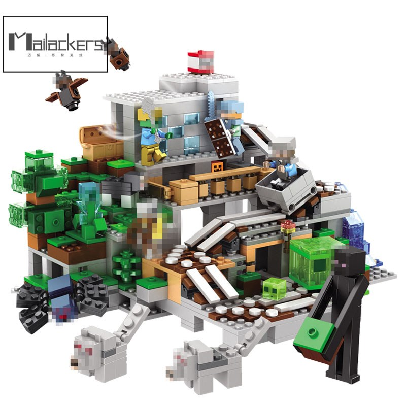 Professional Sale Legoing Minecraft Blocks 922pcs The Mine My World Figures Set Building Block Toys For Children Compatible Minecrafted Legoings Blocks