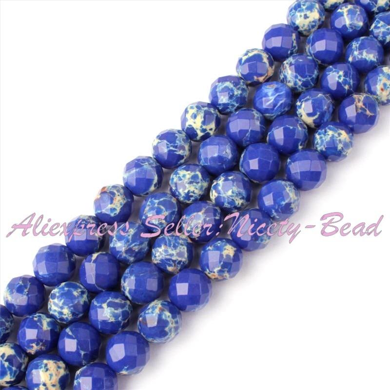 "6,8,10,12,14mm Purple Faceted Round Sea Sediment Gemstone Beads Loose Strand 15/"""
