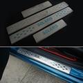O ENVIO GRATUITO de aço Inoxidável porta Placa de Chinelo peitoril acessórios Do Carro Para Hyundai solaris sedan hatchback 2012-2015