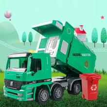 Mini toy car Friction Powered Garbage Truck Toy Car with Garbage Cans Vehicle Educational Clean Trash Car Kids Toys Gifts