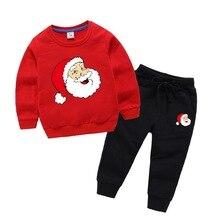 Baby Boys Clothes Cartoon Girls Clothing Set Autumn Long Sleeve Sweatshirt toddler girl winter clothes kids christmas set