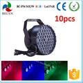 10 unids/lote 54x3 w rgbw dmx512 luz de la igualdad del led para la venta