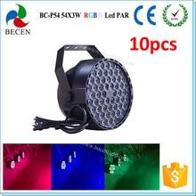 10 шт./лот 54×3 Вт RGBW DMX512 светодио дный par свет для продажи