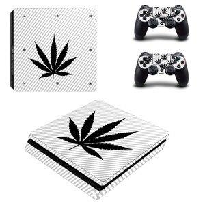 Image 1 - Adesivo de decalque para playstation 4 slim, adesivo branco puro e verde para controles de playstation 4 slim adesivo da pele