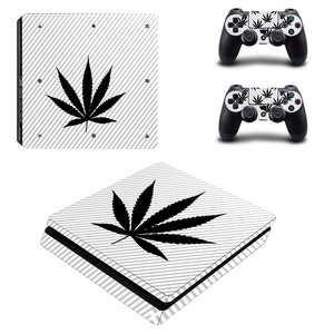 Image 1 - Pure White Green Leaf Weed PS4 Slim Skin Sticker Decal Vinyl for Playstation 4 Console and 2 Controllers PS4 Slim Skin Sticker