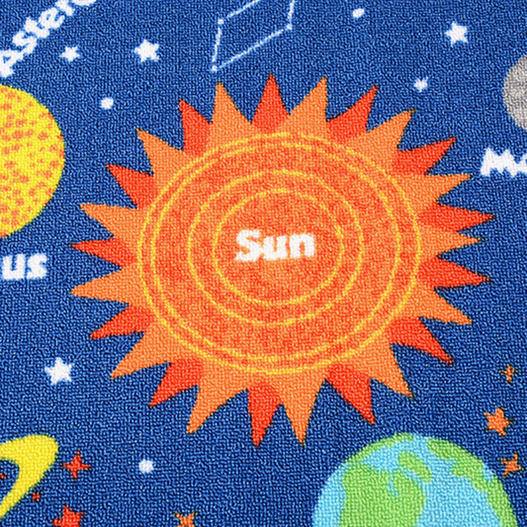 Blue Kids Fun Area Rug Nursery Rugs Solar System Children Carpet Educational Learning 100137cm In From Home Garden On Aliexpress