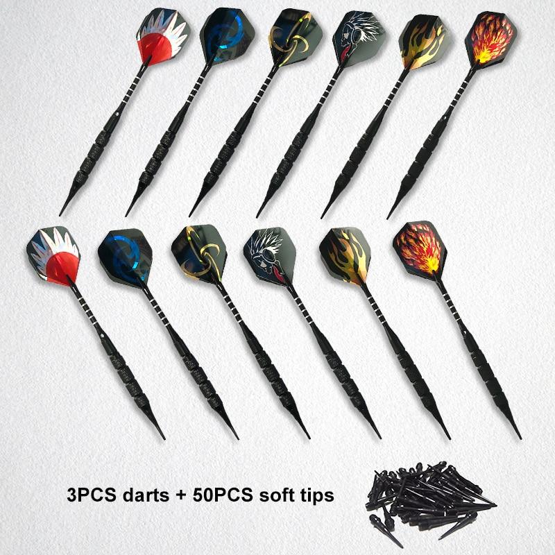 3PCS/set Safty Soft Darts with 50pcs Extra 2BA Tips 18g Professional Electronic Tip Dartboard Game Q