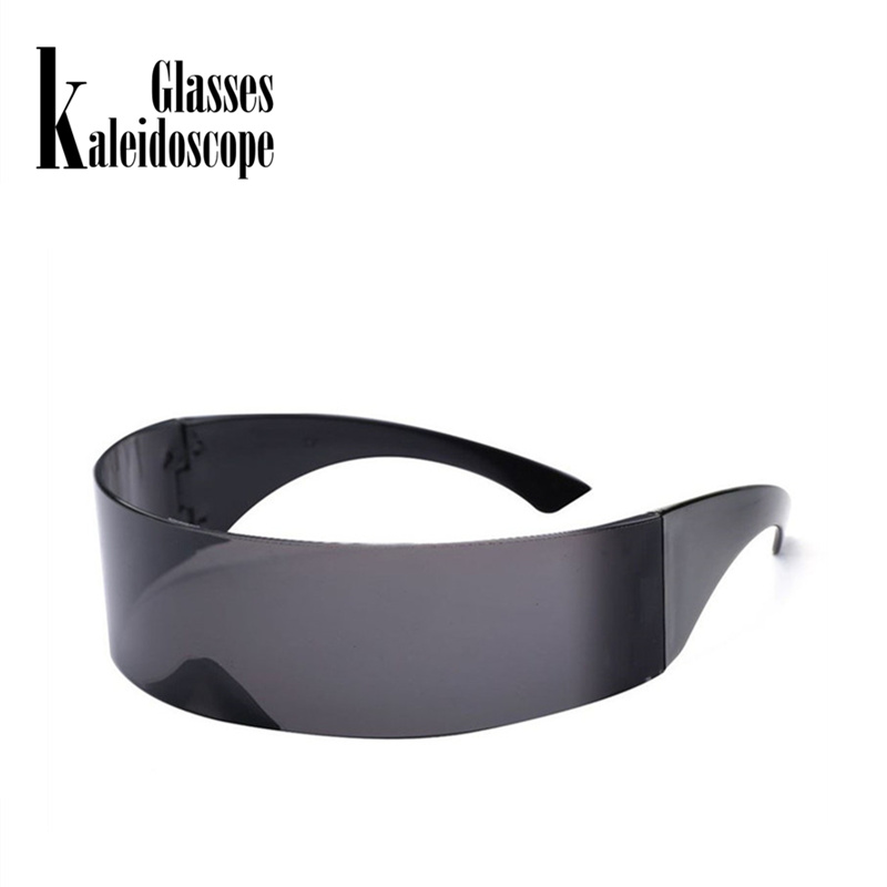Kaleidoscope Glasses Mens Wrap Futuristic <font><b>Sunglasses</b></font> Women Hairband Integral Shades Flat Top Novelty Costume Party Funny Glasses image