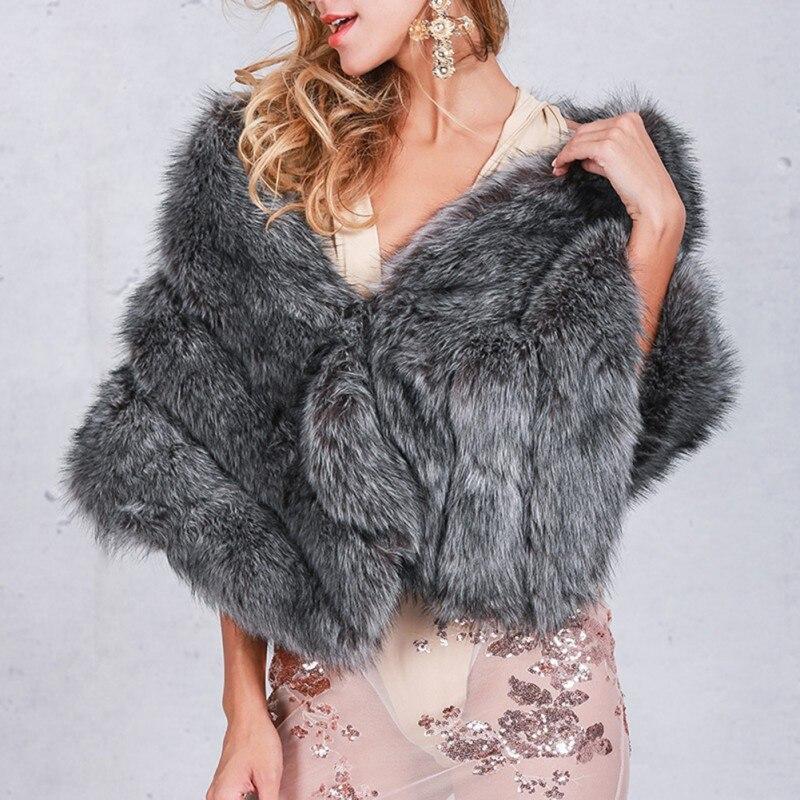 2017 Herbst Winter Elegante Frauen Faux Pelzmantel Flauschige Warme Weibliche Oberbekleidung Schwarz Chic Mantel Jacke Haarigen Mantel Neue PüNktliches Timing