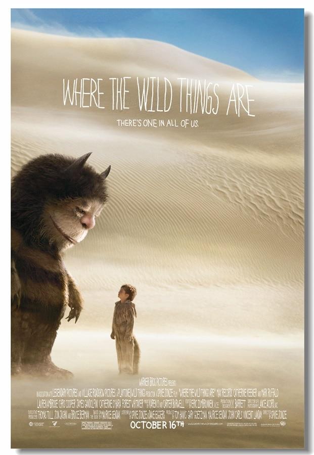 Custom Canvas Wall Mural Cartoon Movie Poster Where The Wild Things