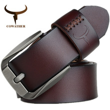 Genuine Real Leather Business Casual Pin Buckle Buckle Belt for Men Male Cowhide Luxury Fashion Waist Belt 150MM Brand Design цена 2017