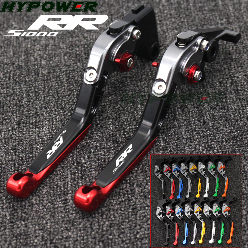 For BMW S1000RR (w and w/o CC) 2015 2016 2017 2018 Logo(S1000RR) Red+Titanium New CNC Adjustable Motorcycle Brake Clutch Levers For BMW S1000RR (w and w/o CC) 2015 2016 2017 2018 Logo(S1000RR) Red+Titanium New CNC Adjustable Motorcycle Brake Clutch Levers