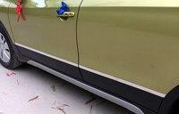 HIGH FLYING Exterior Side Panel Door Body Molding Cover Trim 4pcs Steel For Suzuki SX4 S