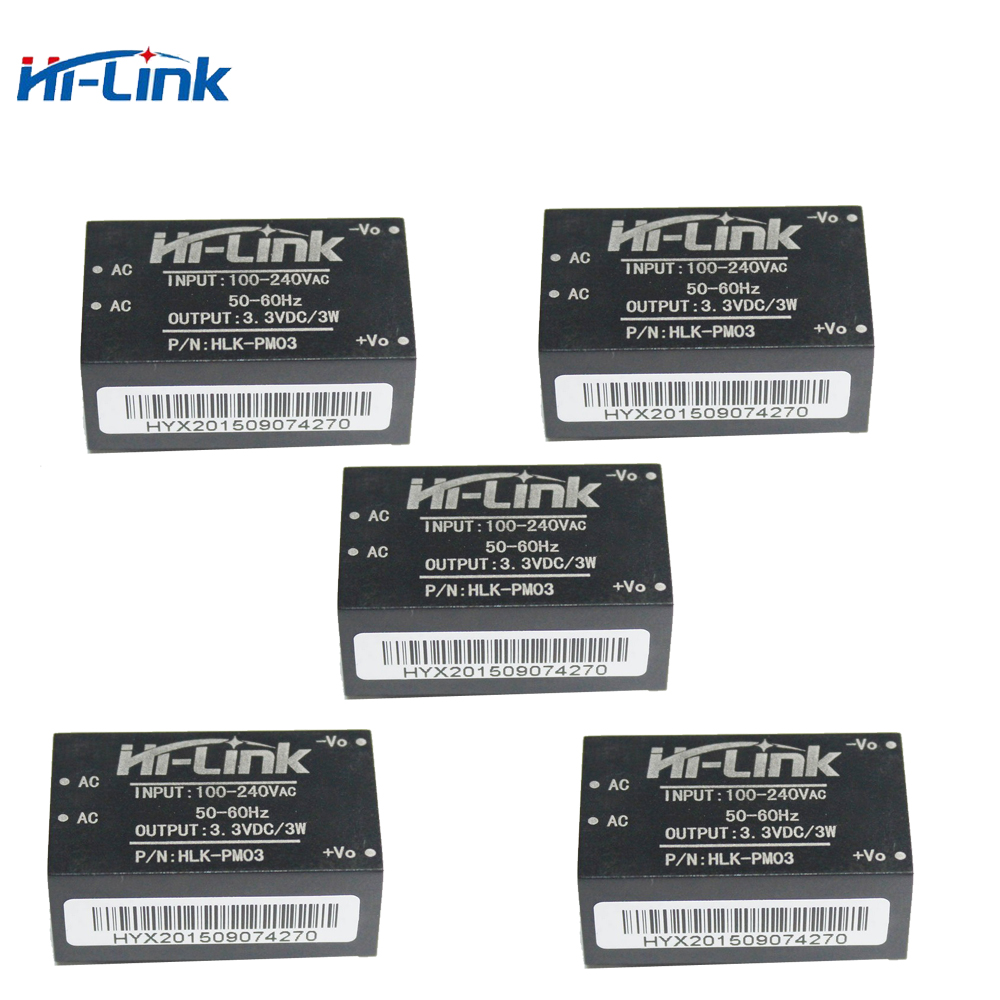 Q17332-5 Hi-link HLK-PM03 AC-DC 220V To 3.3V Step Down Buck Isolated Power Supply Module Intelligent Household Switch Converter