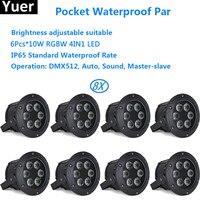 8xLot Pocket Waterproof Par 6X10W LED Par Light professional dj equipment For Party Wedding Dj KTV Disco bar stage lighting