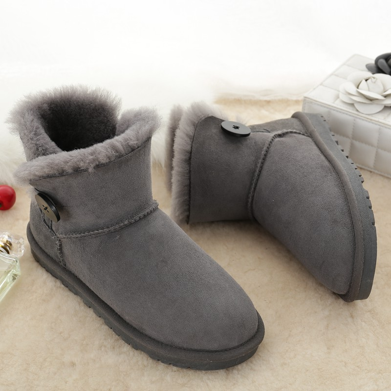UBZ 2017 Women Boots Warm Winter Snow Boots Suede  Boots Female Thick Plush Inside Shoes Botas Mujer Fur Australia