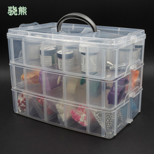 30 Grids Plastic Storage Box Portable Detachable Home Organizer Transparent Makeup porta joias