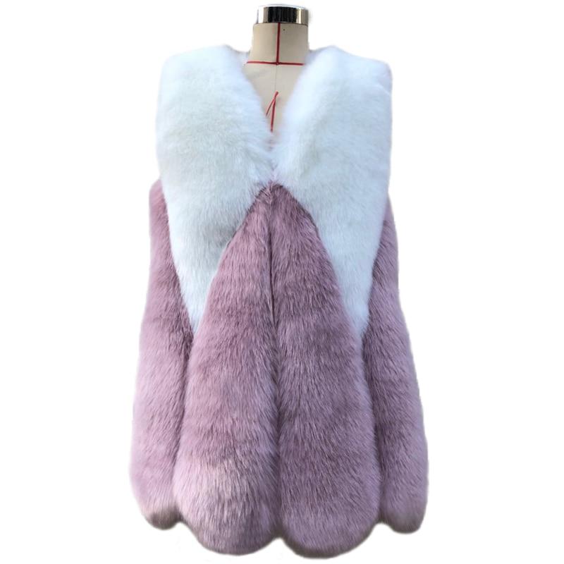 Savabien зимний женский пушистый мягкий тонкий жилет из искусственного меха жилетка без рукавов лоскутное роскошное пальто 2019 корейский стиль