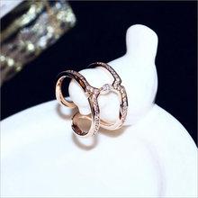 Новое поступление женское модное Открытое кольцо розовое золото