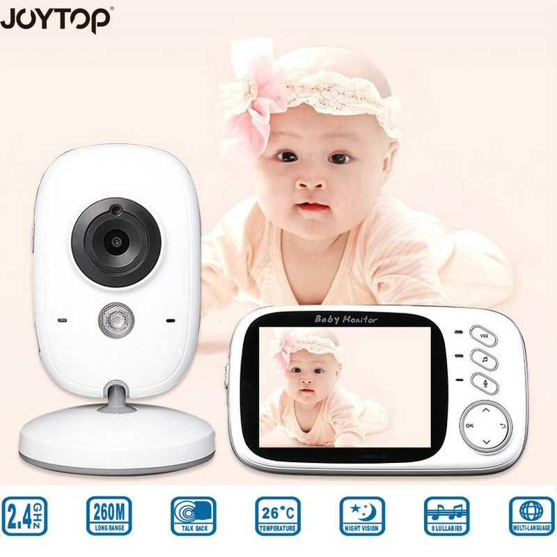 JOYTOP VB603 3 2 Inch LCD Video Baby Monitor With Two Way Talk Night Vision Temperature
