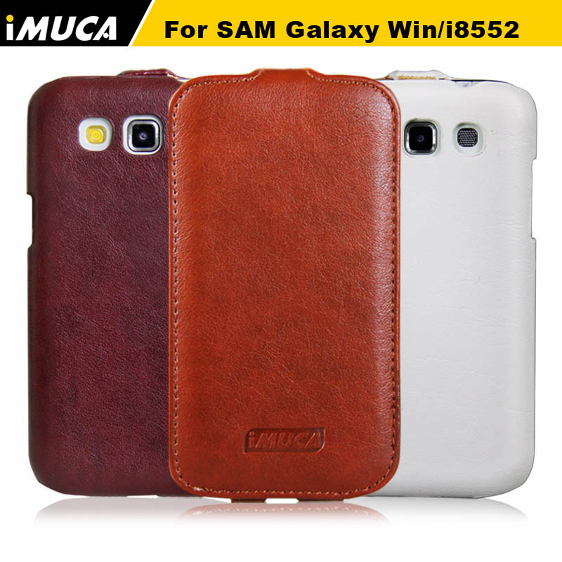 Galleria fotografica Flip Leather Case for Samsung Galaxy Win I8552 GT-i8552 Hard <font><b>Cover</b></font> IMUCA Brand New <font><b>Smartphone</b></font> Pouch