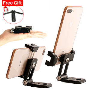 Image 1 - ST 05 All in 1 Phone Tripod Mount Clipper w Hot Shoe for Microphone Vertical Video Shoot Tripod Clamp Holder for iPhone XS XR