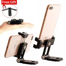 ST 05 wszystko w 1 telefon statyw do montażu Clipper w Hot Shoe do mikrofonu pionowe wideo strzelać statyw uchwyt zacisku dla iPhone XS XR