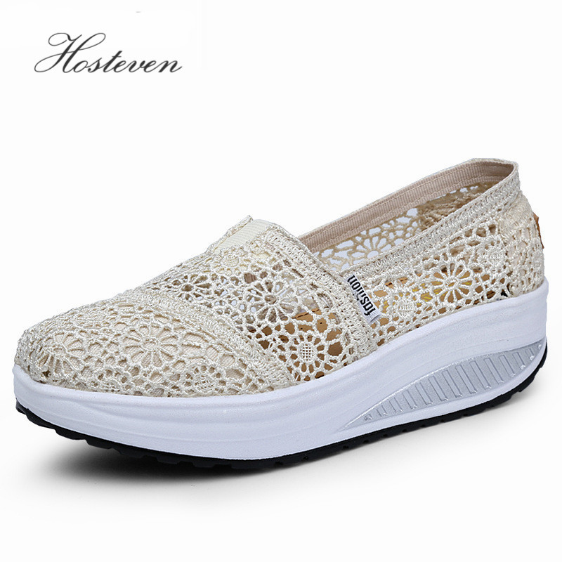 2017 Women's Shoes Fashion Outdoor Casual Platform Women Vulcanize Shoes Ladies Air Mesh Shoes Woman Black White Solid Footwear
