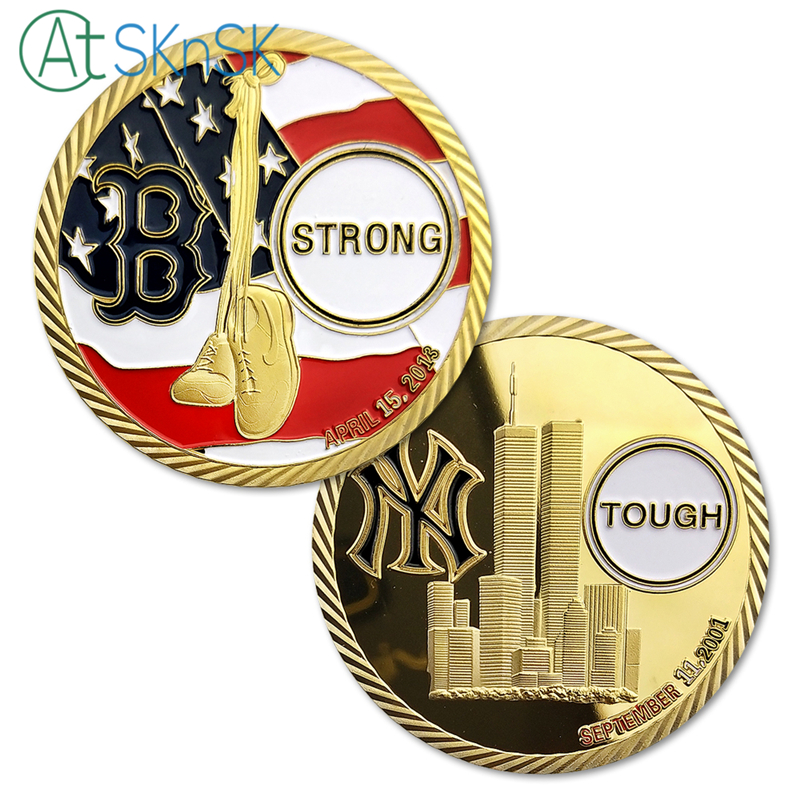 1/3/5/10pcs Yankees Boston Red Sox Remember Boston Marathon April 15 2013 & 911 September 11 2001 Challenge Coin Collectibles
