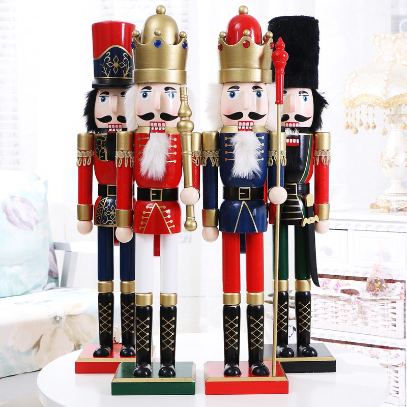 [60CM] Large Manufacturers Selling The Nutcracker Puppet Soldier King Musicians Lucky Talisman Ornaments Dies Wedding