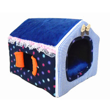Super Soft Short Plush Dog Nest Collapsible With Windows Pet House Keep Warm Bed Kennel Oxford Cloth Mats ATB-225