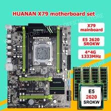 Бренд HUANAN Чжи X79 LGA2011 материнской платы с M.2 SSD слот скидка материнская плата с ЦПУ Xeon E5 2620 2,0 ГГц SR0KW Оперативная память 16G (4*4G)