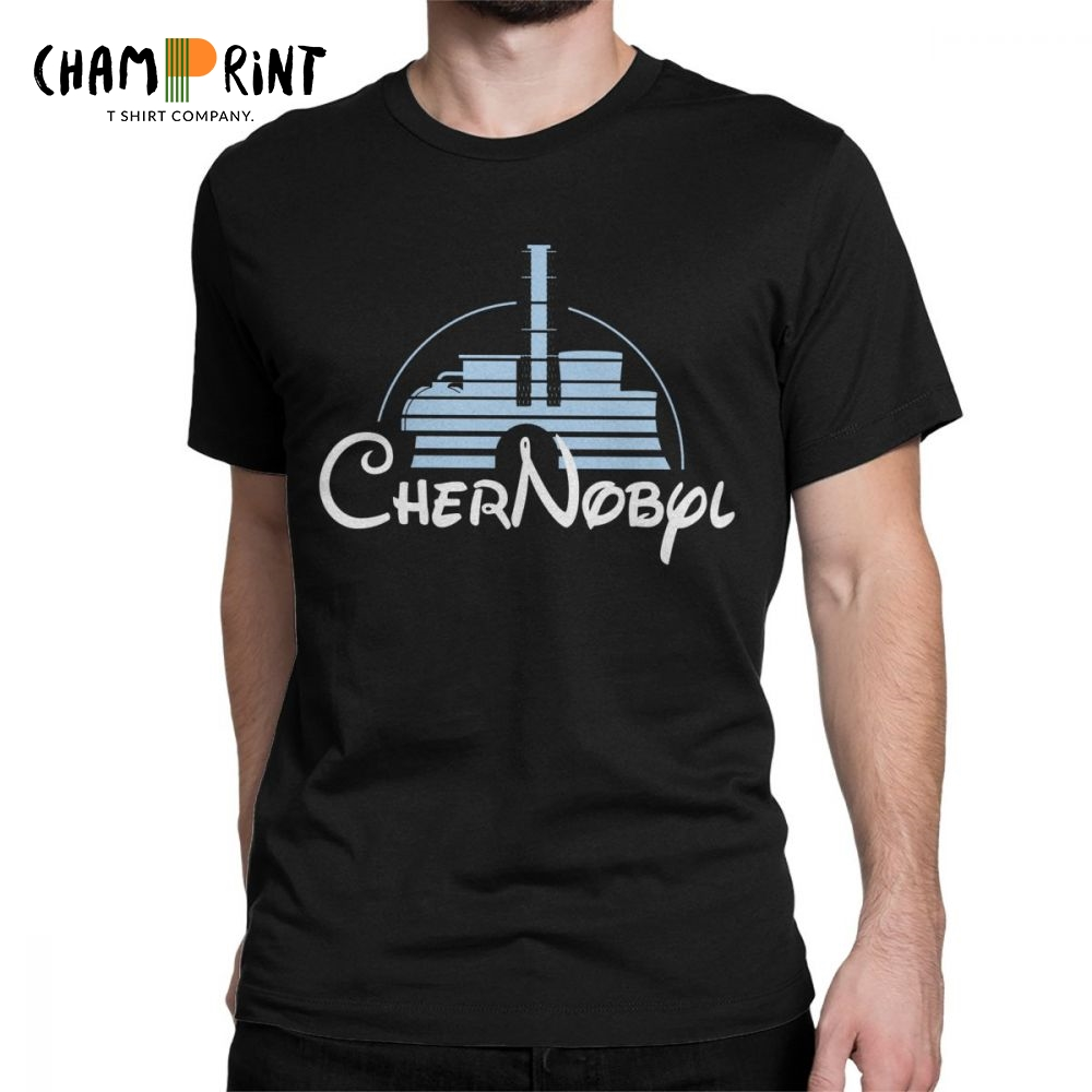 Men's Nuclear Disaster Chernobyl Geek Ukraine Radiation Vintage   T     Shirt   Pure Cotton Tops Novelty Tee   Shirt   Plus Size   T  -  Shirts