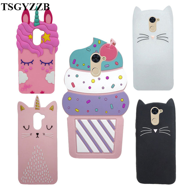 US $2 76 18% OFF Phone Cases For Huawei Enjoy 7 Plus Huawei Y7 Prime Case  Soft Silicone 3D Unicorn Cat Back Cover For Huawei Y7 Prime 2017 Fundas-in