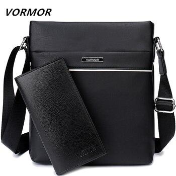 VORMOR известный бренд повседневная мужская сумка деловая кожаная мужская сумка-мессенджер винтажная сумка через плечо для мужчин дропшиппин...