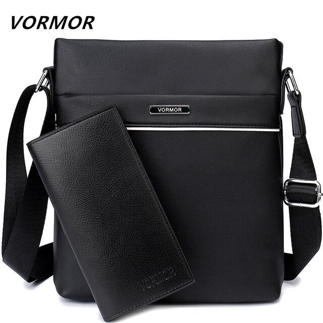 d41f8ae4210e VORMOR Famous Brand Casual Men Bag Business Leather Men Messenger Bags  Vintage Shoulder Crossbody Bag For