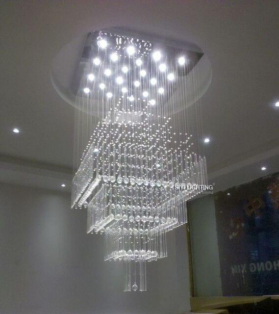 Moderno 12 Lampadine A LED D60 * H140CM Lampadario di Cristallo ...