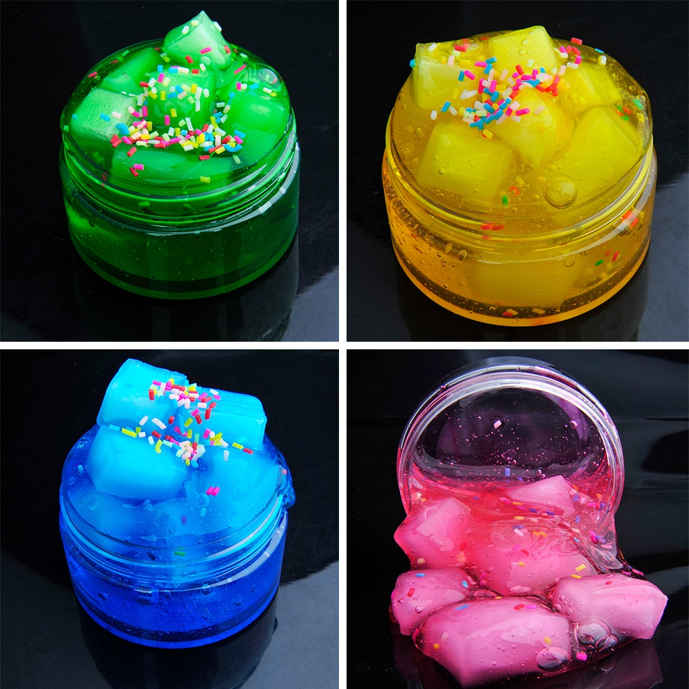 DIY Clay Fluffy Floam Scented antistress toy Kids Toy Sludge Cotton Mud to Release Clay Toy