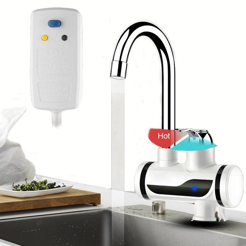 ᗑ】Calentador de agua sin tanque instantánea grifo calentador de ...