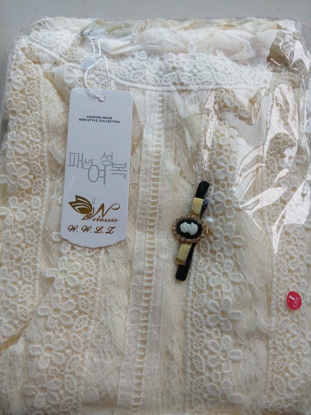 19 women tops and blouses Women Clothing fashion Blusas Femininas Blouses Women Shirts Crochet Blouse Lace Shirt clothes 999 19