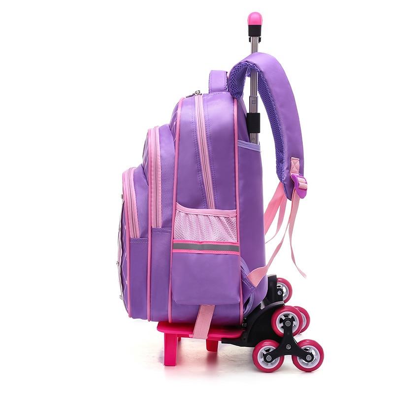 6 Amovible Chariot Dos Princesse Purple Pink Filles Roues Sacs 6 6 Enfants Voyage Pink Avec 2 Sac 2018 Dark 2 Bagages Wheel 3 D'école À Mochila 2 Pour Pink Purple Sqv6vwdO