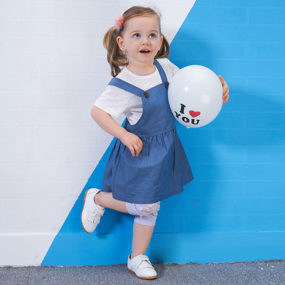 Yingzifang Sale New Arrival Solid O-Neck Pullover Short 2017 Girls Baby Summer Clothing Set Casual Kids Clothes T-Shirt+Dress
