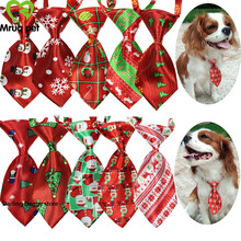 10pcs Christmas/Halloween Pet Dog Cat Neck Ties adjustable Small Neckties Bow Accessories Supplies