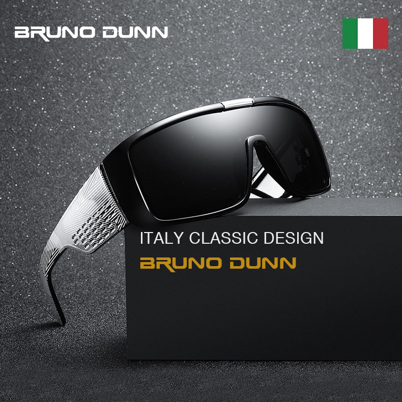 Bruno Dunn Lentes Dragon Domo Brand Designer Sunglasses For Men Sport Gafas Sun Glasses Oversized Frame Coating With Box Ray(China)