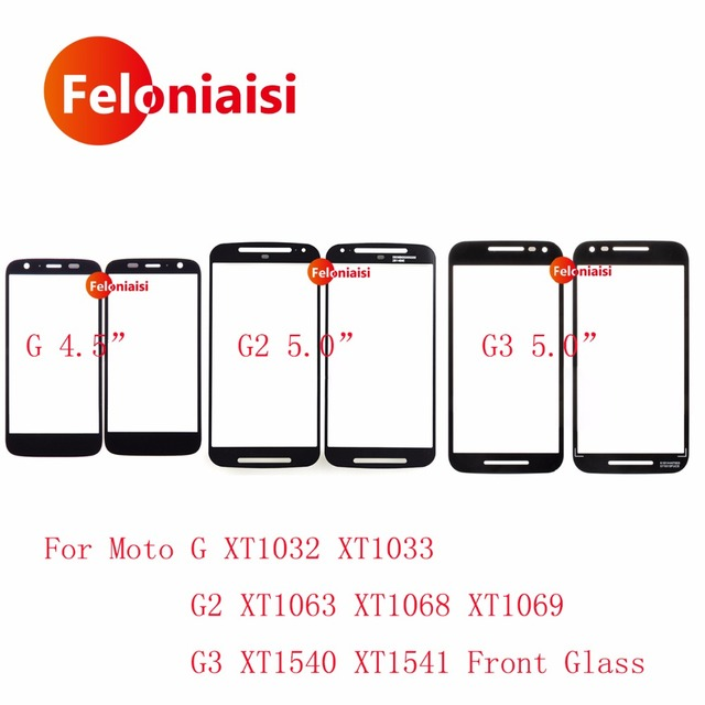 50Pcs For Motorola Moto G G1 XT1032 XT1033 G2 XT1063 XT1068 XT1069 G3 XT1540 XT1541 Front Outer Glass Lens Touch Screen Panel
